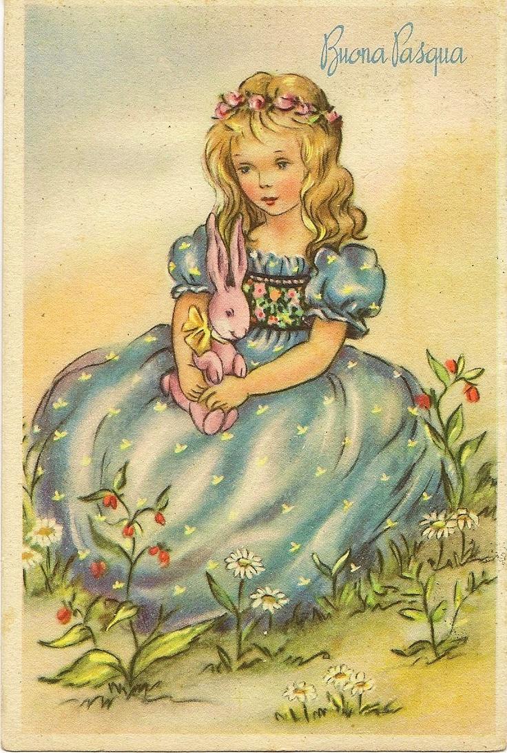 vintage Italian Easter postcard