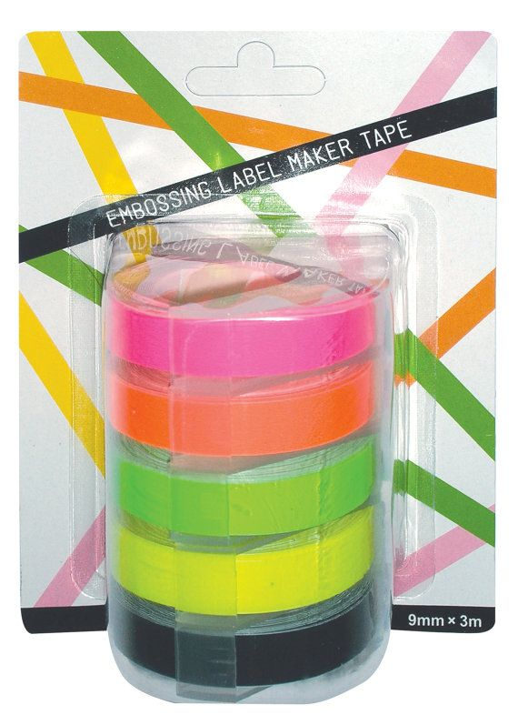 OH MY Motex FLUORO embossing label maker refill tapes by OHMYBUY, £7.99. I have been having so much fun with these.