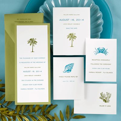 97 best images about tropical invitations & stationery on, Wedding invitations