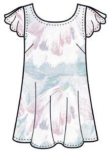Выкройки блузок: туника для беременных