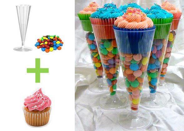 Cupcakes divertidos especiales para celebraciones de cumpleaños.