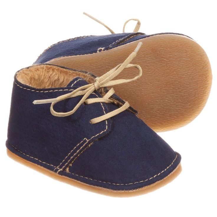 Mayoral Newborn - Baby Boys Navy Blue Pre-Walker Shoes | Childrensalon