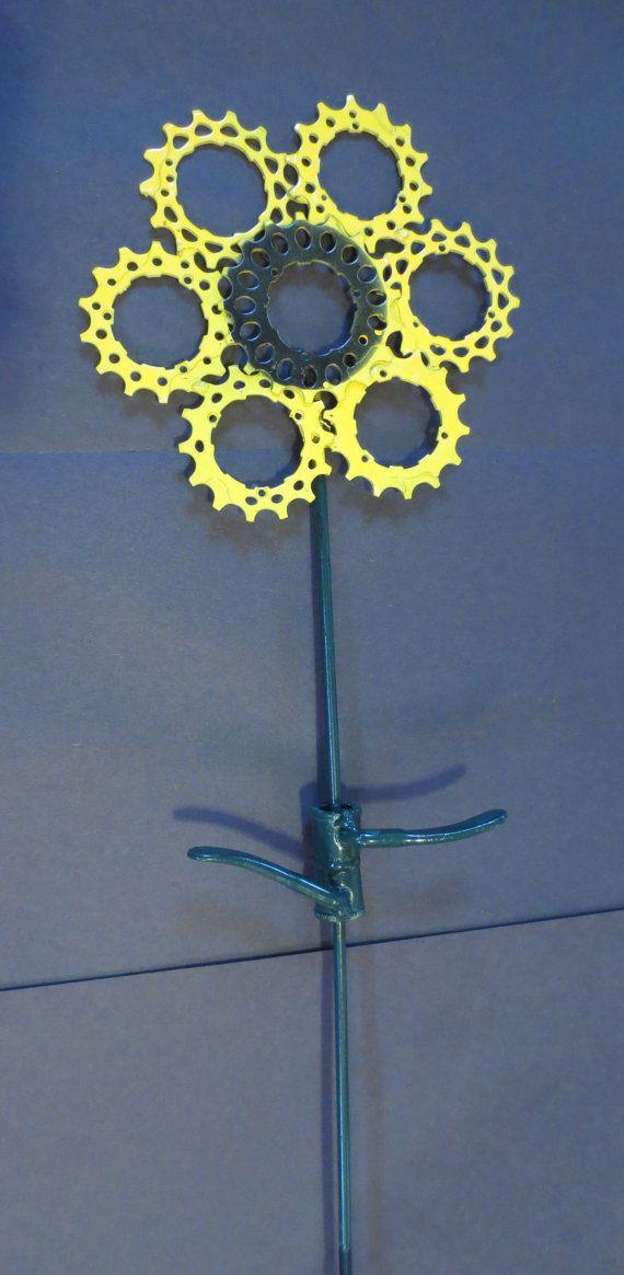 Bike Part Yard Art Flowers by WeldedBikeArt on Etsy, $24.00
