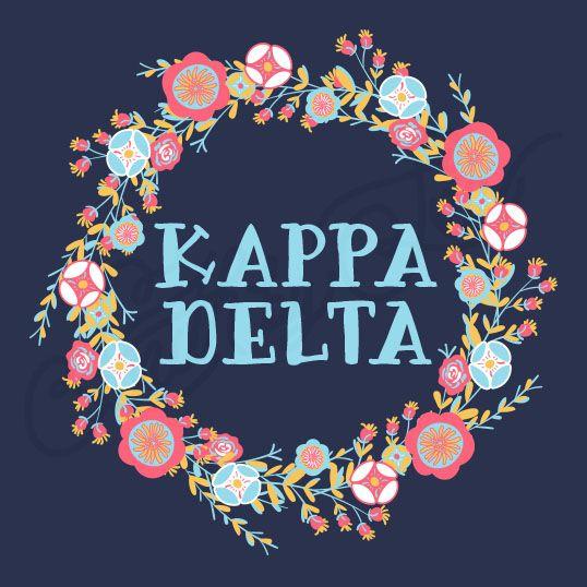 Sorority Social Kappa Delta Floral Wreath South By Sea