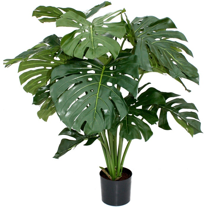faux giant monstera plant decorating pinterest