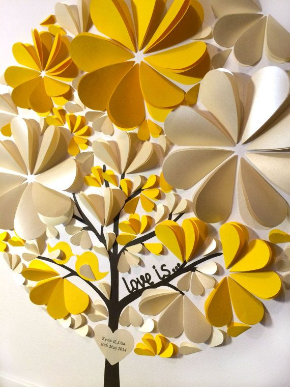 Guest Book Tree  3D Wedding Tree  Love Tree  Tree of by MioGallery, $190.00