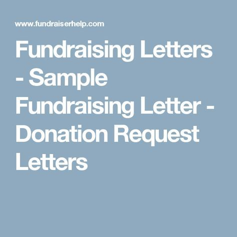 Best 25+ Fundraising letter ideas on Pinterest Nonprofit - donation request letter