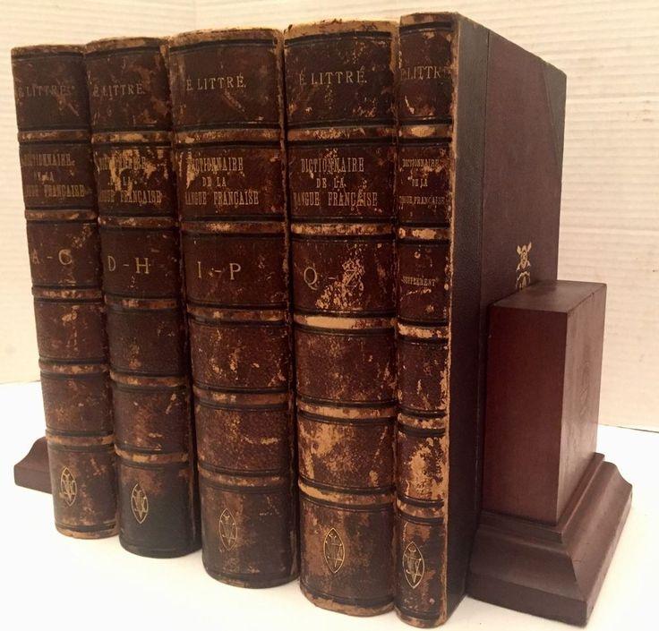 1863 French Dictionary Set Dictionnaire De La Langue Francaise Par E Littre RARE  | eBay