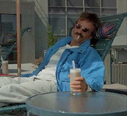 hello dead welcome waving bernie relaxing weekend at bernies