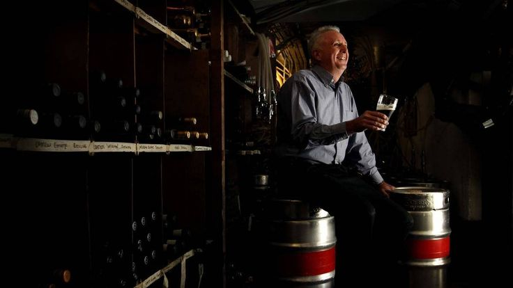 TASTE READY: John Twohill with kegs of the Coopers Vintage Ale 2013, to be opened on Thursday.  Picture: Simone De Peak