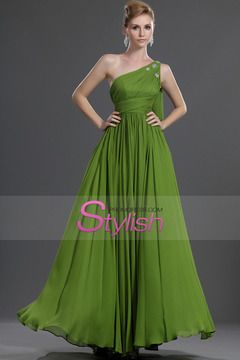 New Arrival Delicate One Shoulder A Line Floor Length Bridesmaid Dresses Beaded $ 119.99 STP8YSE63Y - StylishPromDress.com