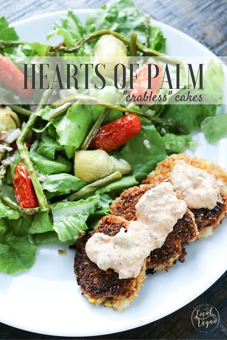 Hearts of palm crab cakes recipe vegan crab food