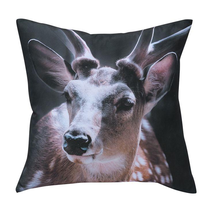 Напечатаны животных диванные подушки 45 x 45 см диван черный домашнего декора бесплатная доставка