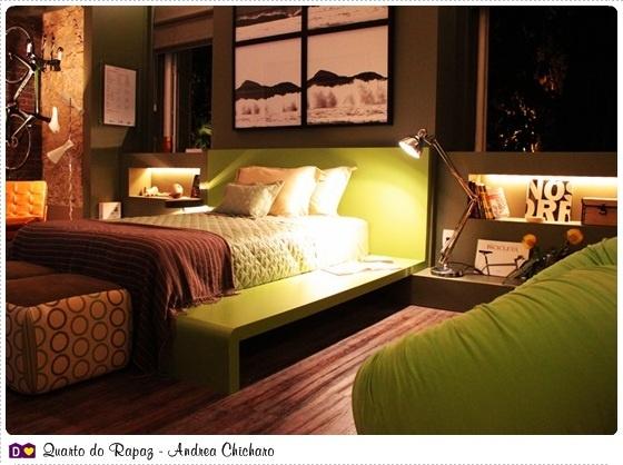 cama de alvenaria colorida