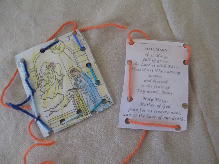 D.I.Y ANNUNCIATION PRAYER CARDS. Simple craft for the Annunciation. Could be altered for any feast day celebration. Great for preschoolers with variations for big kids!!
