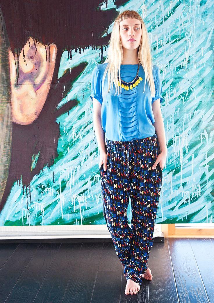 Geometric Silk Pants by Spijkers en Spijkers