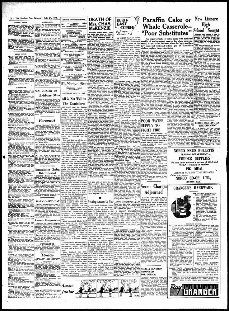 Northern Star (Lismore, NSW) - Australian Newspapers - MyHeritage