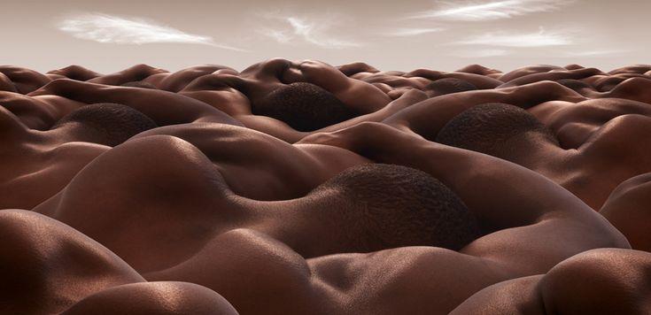 The Desert of Sleeping Men by Carl Warner