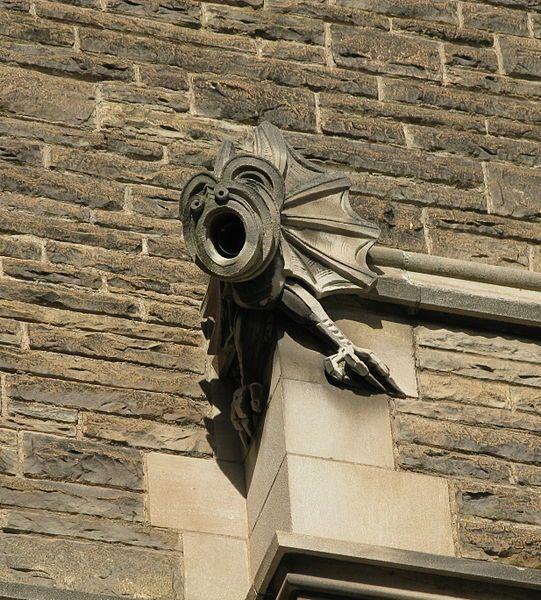 Gargoyle on Hamilton Hall at McMaster University
