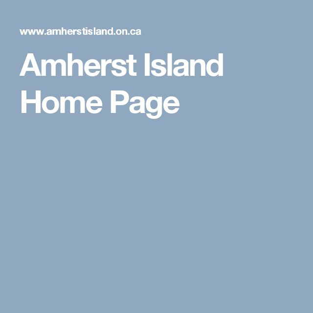 Amherst Island Home Page