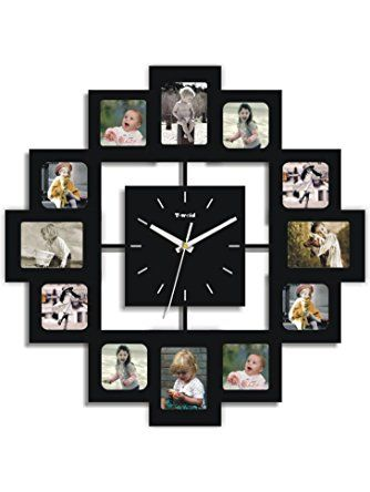 Creative Motion 12-Photo Frame and Clock ❤ Creative Motion Industries, Inc.