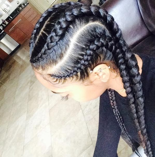 How to Braid Cornrows - Cornrows are a popular African style of braiding the hair along the scalp. Description from pinterest.com. I searched for this on bing.com/images