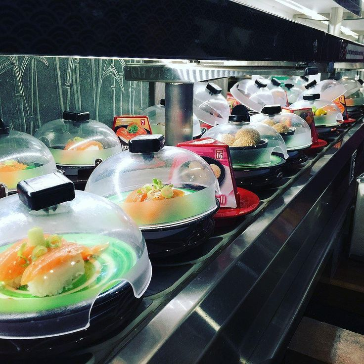 Get ready to have your concept of sushi rocked. Not only is everything at Rockin' Rolls Sushi Express all-you-can-eat, but it's all delivered to you via rotating conveyor belt.