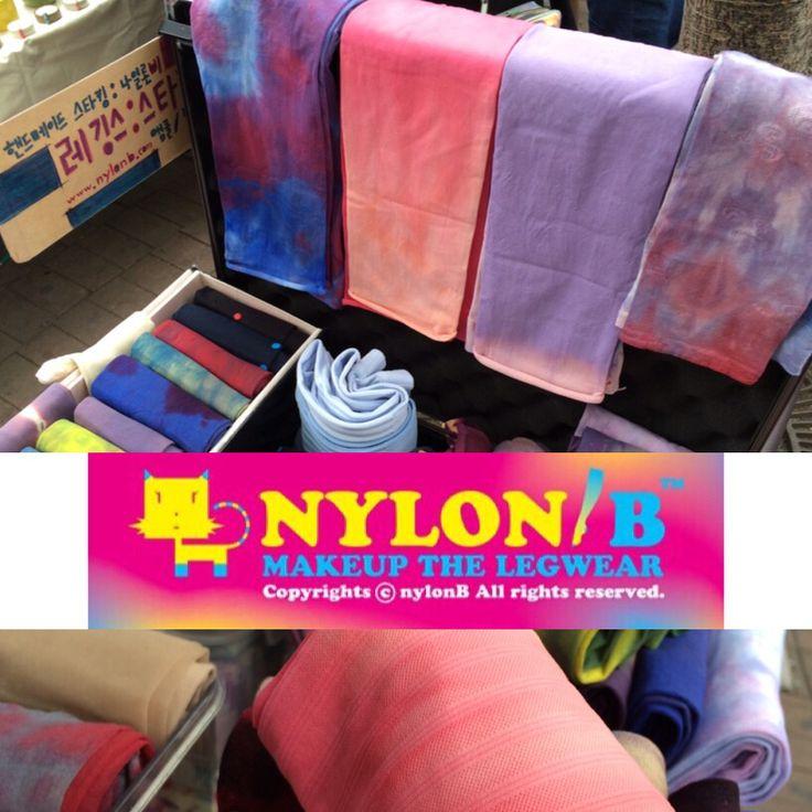 금일 홍대앞 아트마켓 개장!! 나일론비 스타킹은 기분좋게 개시하고, 힘차게 고고~~ 나일론비 스타킹 많이 구경오세요^^  Messenger ID >> (kakaotalk, line) : nylonb (kakao yellow ID) : @ nylonb  www.nylonb.com nylonb.modoo.at  #스타킹 #염색 #스타일 #희망시장 #스타킹디자이너 #레깅스 #핸드메이드 #타이츠 #디자인 #수작업 #handmade #방송 #kbs #패션 #란제리 #팬티스타킹 #pantyhose #legs #leggings #wearpics #tights #fashion #design #dye #style #stockings #패션스타그램 #socks #나일론 #나일론비