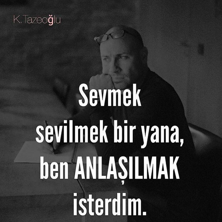 Sevmek sevilmek bir yana, ben anlaşılmak isterdim.   - Kahraman Tazeoğlu / Yaralı  #sözler #anlamlısözler #güzelsözler #manalısözler #özlüsözler #alıntı #alıntılar #alıntıdır #alıntısözler #kitap #kitapsözleri #kitapalıntıları #edebiyat