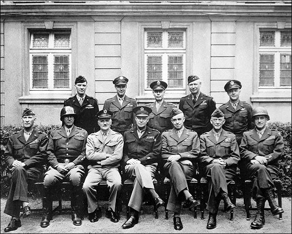 Eisenhower, Patton & American Generals WWII Photo