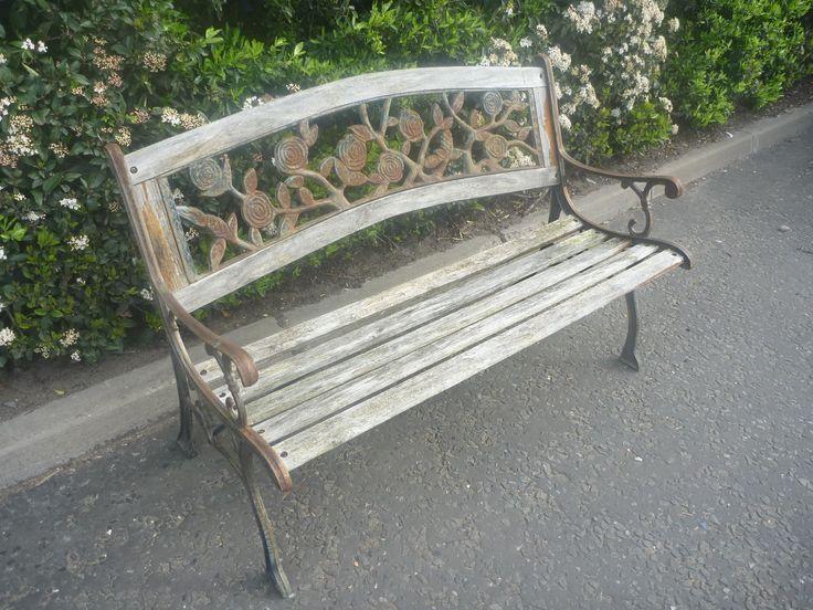 Wooden Garden Bench restoration project