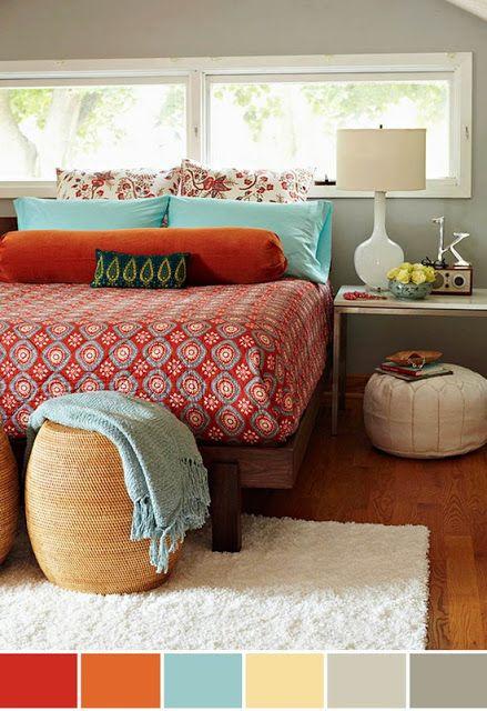 Designer in Teal: Mood Board: Eclectic Bedroom
