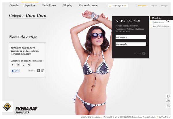 Webdesign - Ekena Bay Summer Online Catalogue by Dominika Gorecka, via Behance