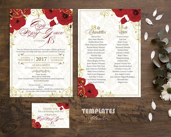 Royal Invitation Royal Printable Royal Template Red And Gold