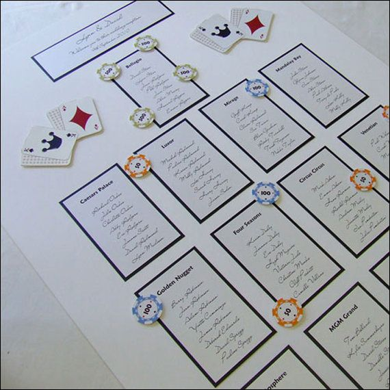 22 best images about las vegas themed wedding table plans