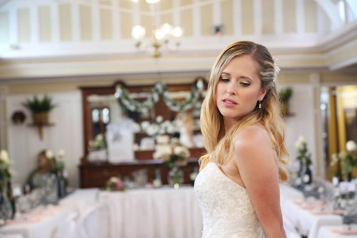 Portrait of the bride. Location: Dining Saloon on the SS Sicamous (a stern wheeler on the southern shore of Okanagan Lake, British Columbia, Canada). Photographs: Something Blue Photography