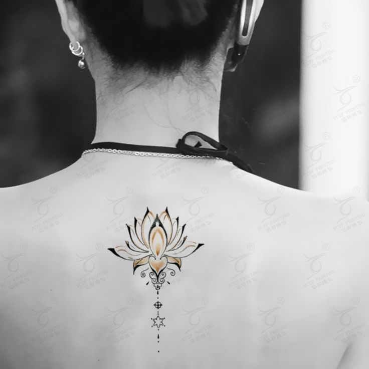 Small Sternum Tattoos Lotus | Lotus Flower Tattoos Promotion-Online Shopping for Promotional Lotus ...