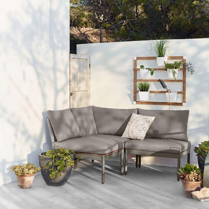 Mini Multilounge 3 Teilig Graumini Multilounge 3 Teilig Grau Grau Gartenmobel Sets Haus Deko Lounge