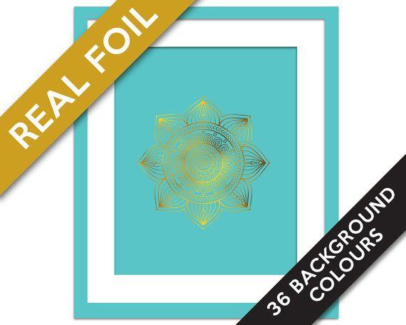 Mandala 3 Art Print - Gold Foil Print - Buddhist Art - Gold Foil Mandala - Hindu Art Print - Meditation Art - Yoga Art - Namaste - Zen Art