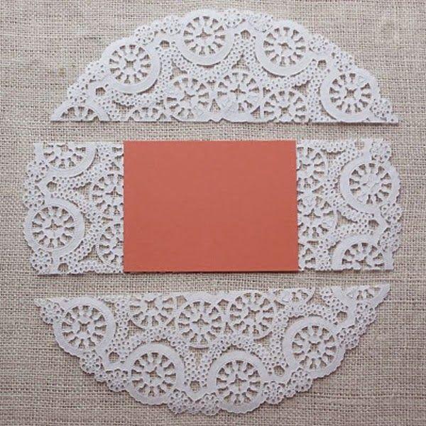 DIY: tarjetas con blondas de papel y cartulinas
