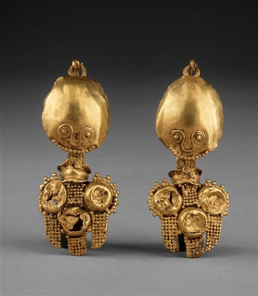 3rd Century AD. Gold Earrings. Art at the DIA Department: Greco-Roman and Ancient European