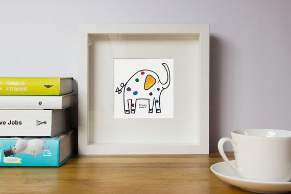 Elephant//Nursery wall art// Nursery wall by illustation on Etsy