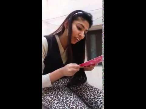 Delhi girl swearing for the video