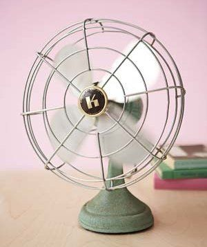 Small fan on a table
