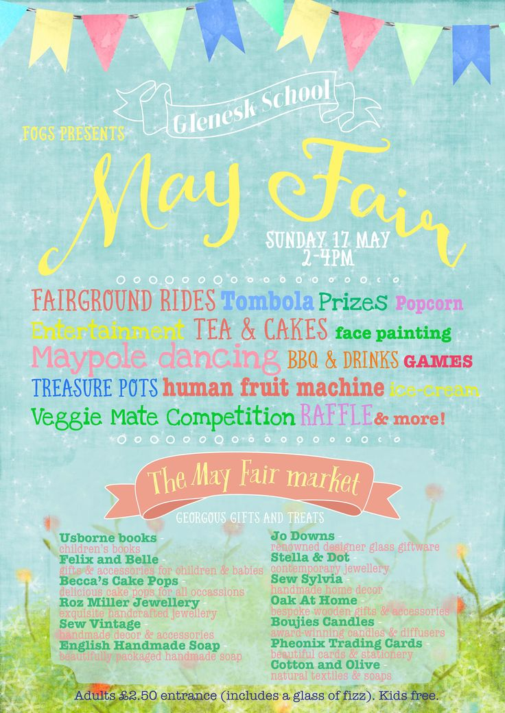 The poster created for School Spring Fair.