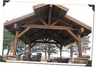 nice overhang on this timberframe carport