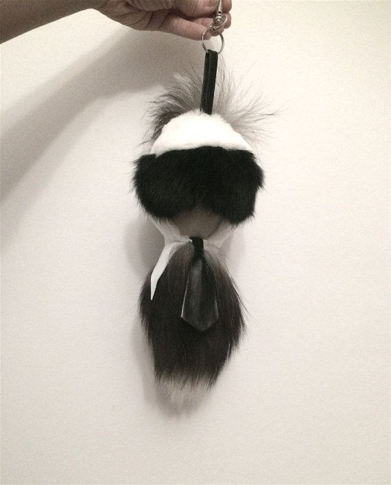 Real Fox Fur Karlito silver fox karlitos keychain fur fox by BeFur