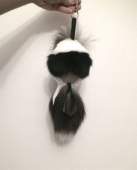 Real Fox Fur Karlito silver fox karlitos keychain fur fox by BeFur