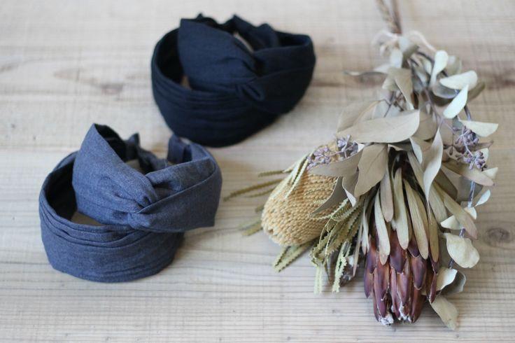 |FLEURI(フルリ) ロングネックレス アクセサリー カチューシャ リネン ヘアバンド ターバン  accessory