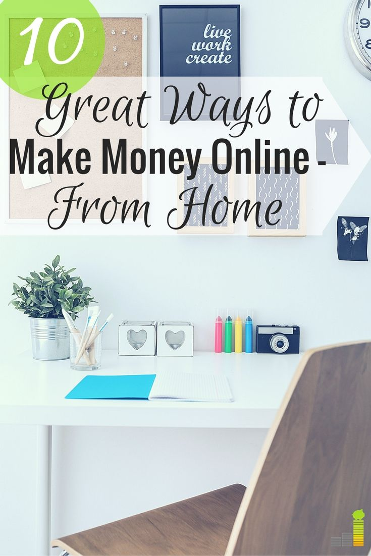 Want to make money online from home but don't know how. Here are 10 ways you can earn extra money online, some with no skills necessary.